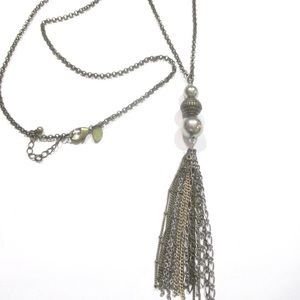 American Eagle Outfitters Tassel Chain Necklace
